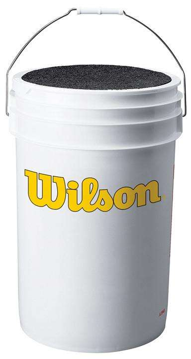 Wilson Empty Ball Bucket with Cushion Lid - League Outfitters