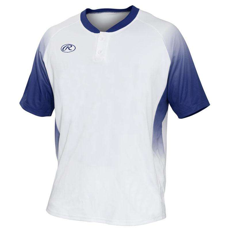 newest 86a6d 82892 Rawlings 2-Button Fade Sublimated Baseball Jersey – League ...