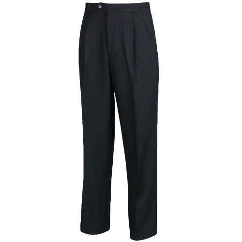 Black Polyester Referee's Pants - League Outfitters