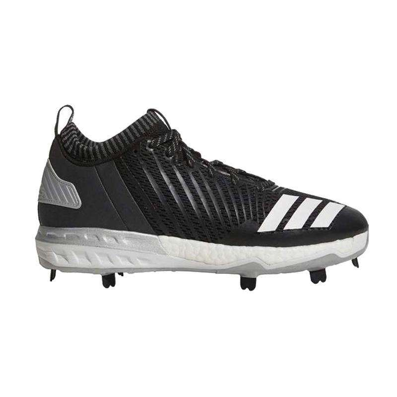 best sneakers 83fb7 50be7 adidas Boost Icon 3 Men s Metal Baseball Cleats - 9   Core Black White Metallic  Silver