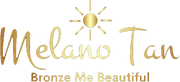 melano tan bronze me beautiful logo