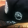 Classic Black Iconic Power Fitted Cap (S/M Size) - by Khenti-Renaissance