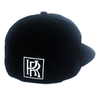 Classic Black Iconic Power Fitted Cap (L/XL Size) - by Khenti-Renaissance