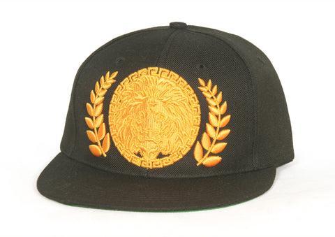 X Gold On Black Iconic Snapback Cap - by Khenti-Renaissance