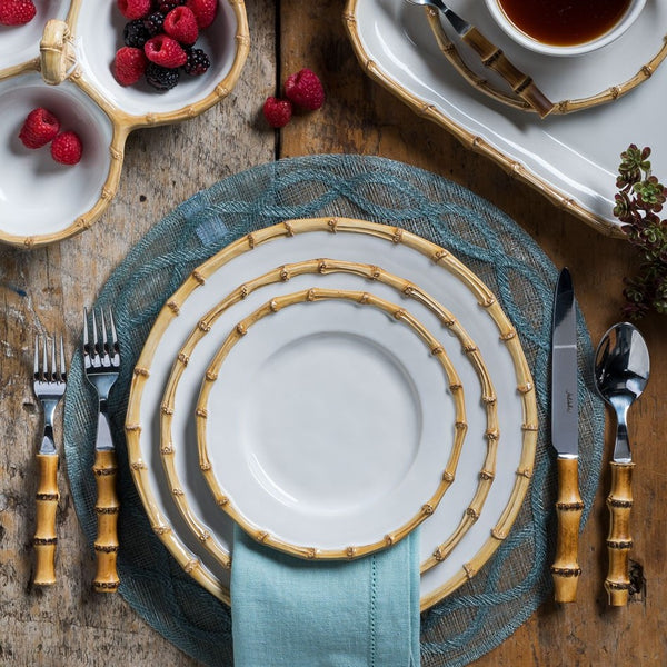 Natural Bamboo 5pc Place Setting