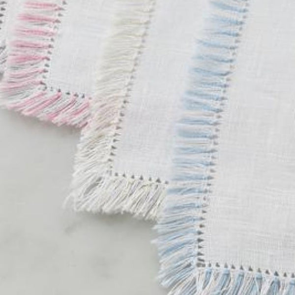 White + Fringe Cocktail Napkin (set of four)