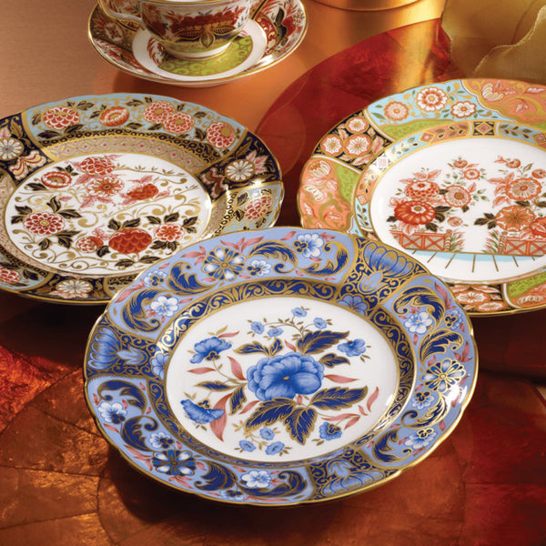 Blue Camellias Imari Salad/Accent Plate