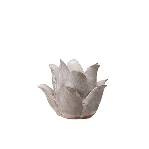 Terracotta Flower Tealight Holder