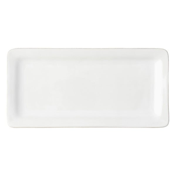 Juliska Puro Whitewash Rectangular Appetizer Platter