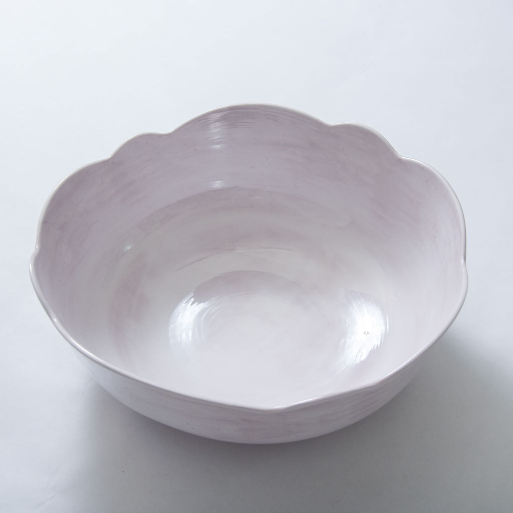 Melamine Scalloped Serving Bowl