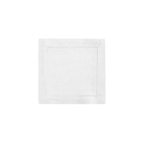 Classic Hemstitch Linen Cocktail Napkin (set of six)