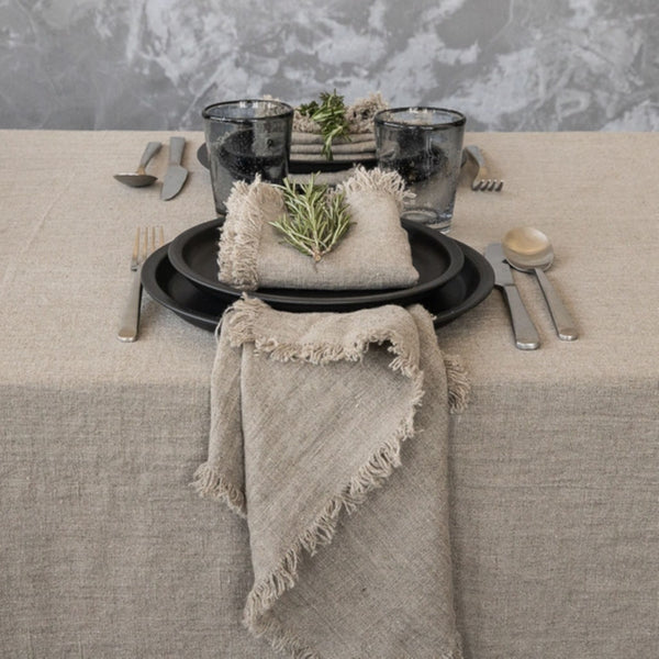Terra Fringed Linen Napkin (set of four)