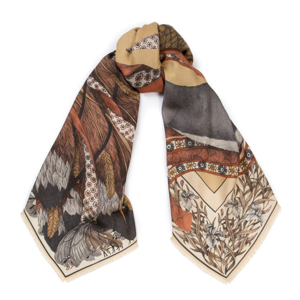 """The Cunning Kitsune"" Wool/Silk Scarf"