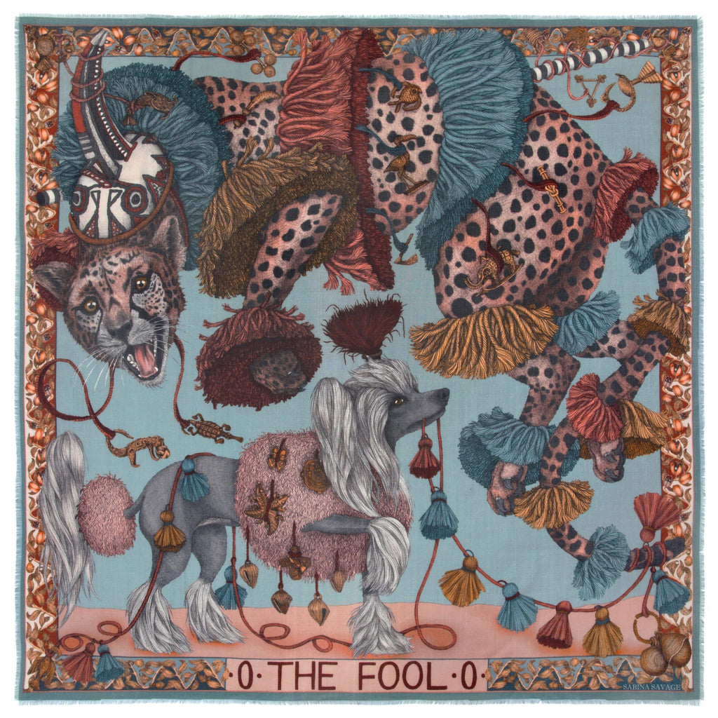 """The Fool"" Wool/Silk Scarf"