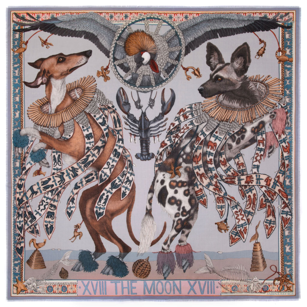 """The Moon"" Wool/Silk Scarf"