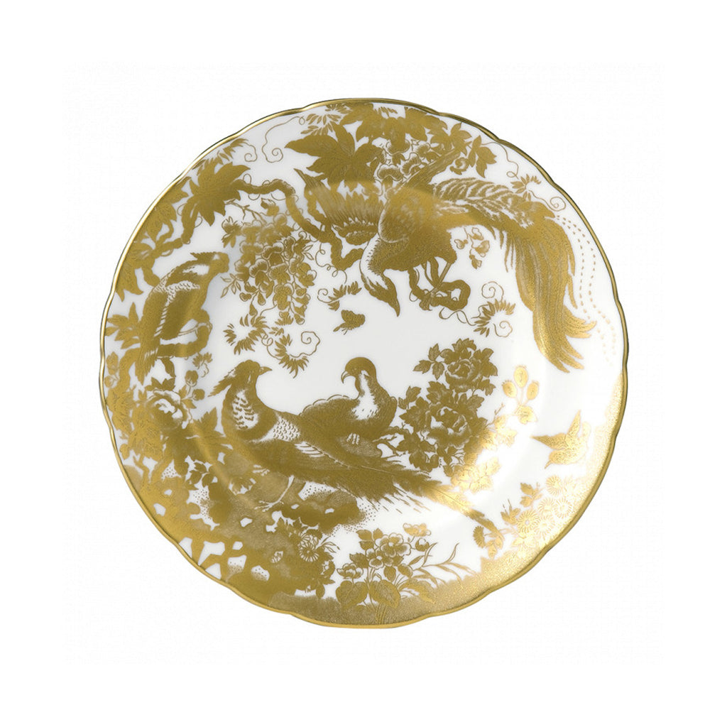 Aves Gold Salad/Accent Plate