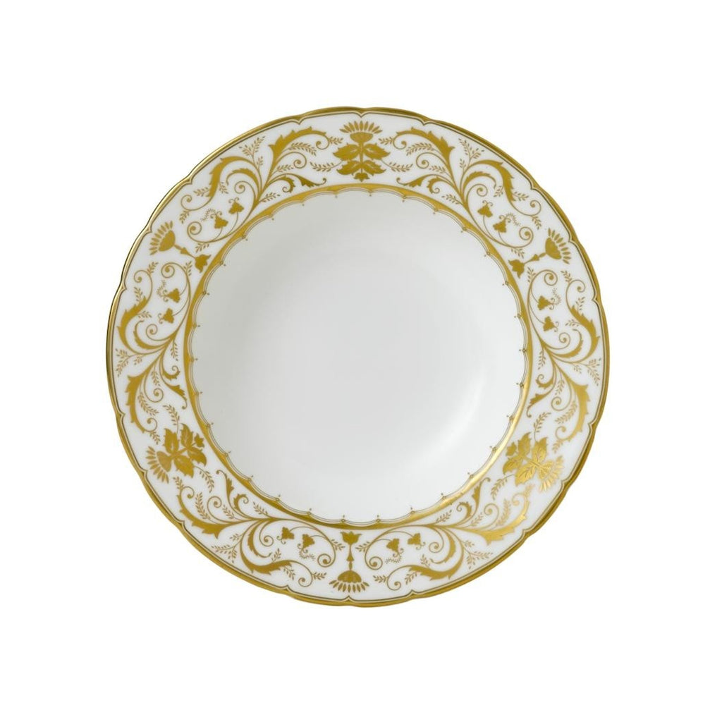 Darley Abbey White Rimmed Soup Bowl