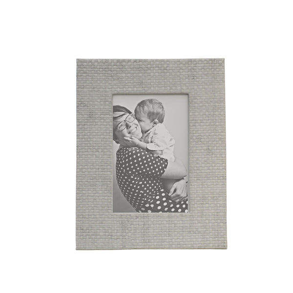 Faux Grasscloth Photo Frame
