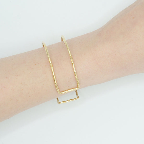 """Seeing Double"" Cuff Bracelet"