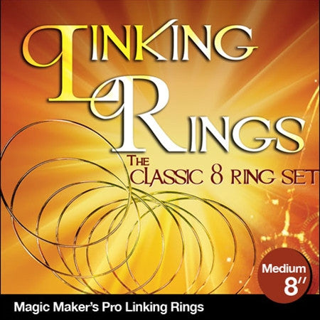 Linking Rings Medium 8 inch Set of 8 Rings with DVD