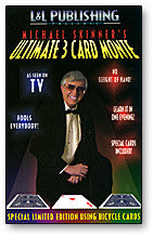 3 Card Monte Card Trick Skinner (Blue)