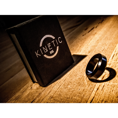 Kinetic PK Ring (Black) Beveled size 10 by Jim Trainer - Trick