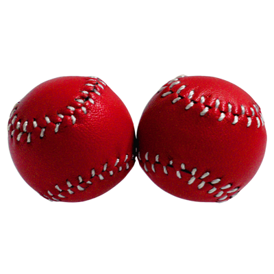 Chop Cup Balls Red Leather (Set of 2) by Leo Smesters - Trick