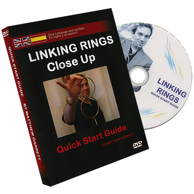 Close Up Linking Rings BLACK (RED BAG) (Gimmicks & DVD, SPANISH and English) by Matthew Garrett - Trick