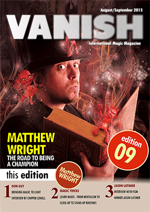 VANISH Magazine August/September 2013 - Matthew Wright eBook DOWNLOAD