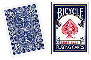 Blank Face Bicycle Cards (Blue)