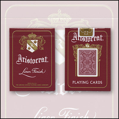 Bicycle Aristocrat 727 Bank Note Cards (Red)