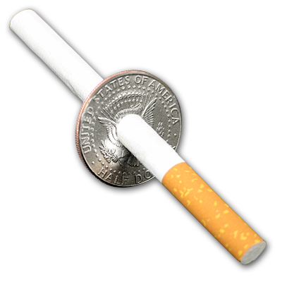 Cigarette thru Half Dollar by Johnson