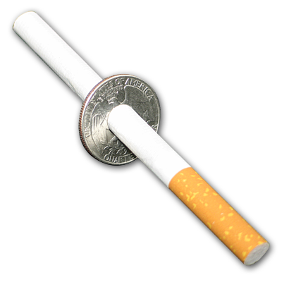 Cigarette thru Quarter by Johnson