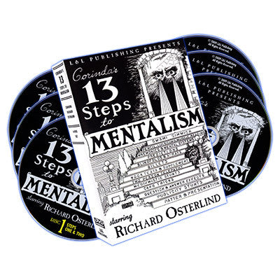 13 Steps To Mentalism (6 DVDs) by Richard Osterlind