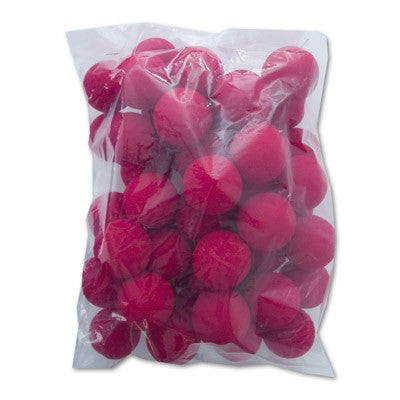 "1.5"" 50 Super Soft Sponge Balls (Red) - Trick"