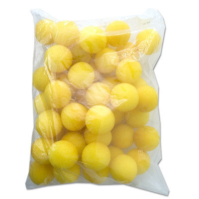 "1.5"" 50 Super Soft Sponge Balls (Yellow)"