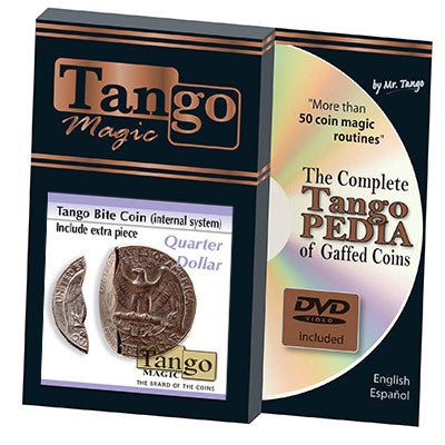 Bite Coin - US Quarter (w/DVD - Internal With Extra Piece) (D0045)by Tango - Trick