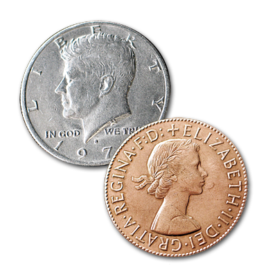 Copper Silver Half by Johnson