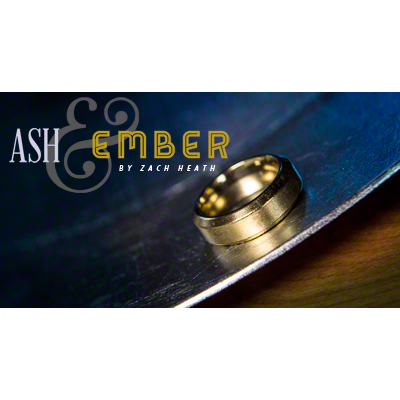 Ash and Ember Gold Beveled Size 12 (2 Rings) by Zach Heath - Trick