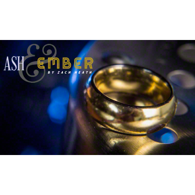 Ash and Ember Gold Curved Size 9 (2 Rings) by Zach Heath  - Trick