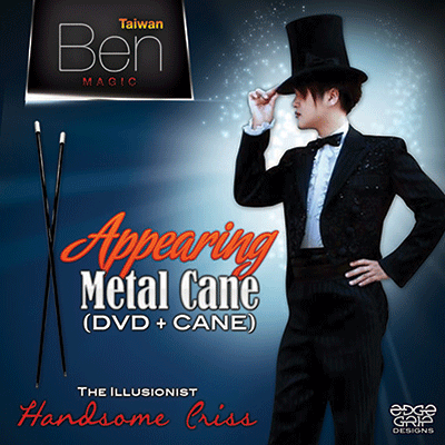 Appearing Metal Cane (Black) by Taiwan Ben Magic - Trick