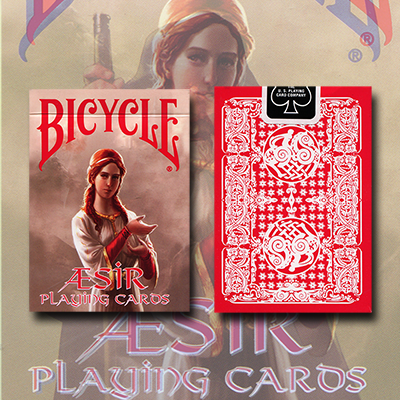 Bicycle AEsir Viking Gods Deck (Red) by US Playing Card Co. - Trick