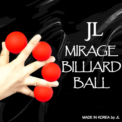 2 Inch Mirage Billiard Balls by JL (RED 3 Balls and Shell) - Trick