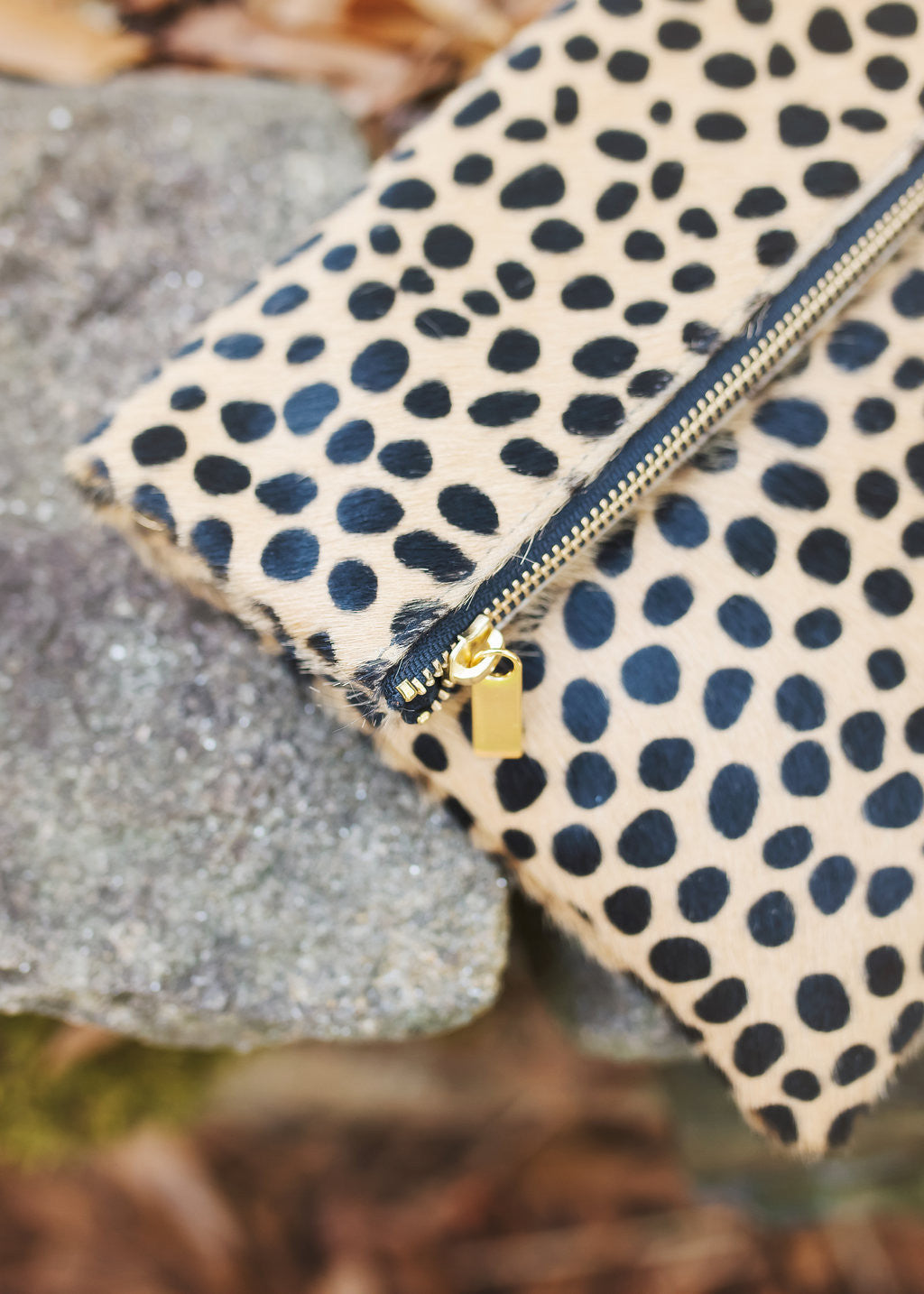 black and camel leopard handbag, Perfect cross body handbag, Molly Jane Handbags, Southern Living Handbags, southern designer handbags, Gifts for her, Holiday Wishlist, leopard cross body handbag, hair on italian leather clutch, leather handbag, The perfect clutch