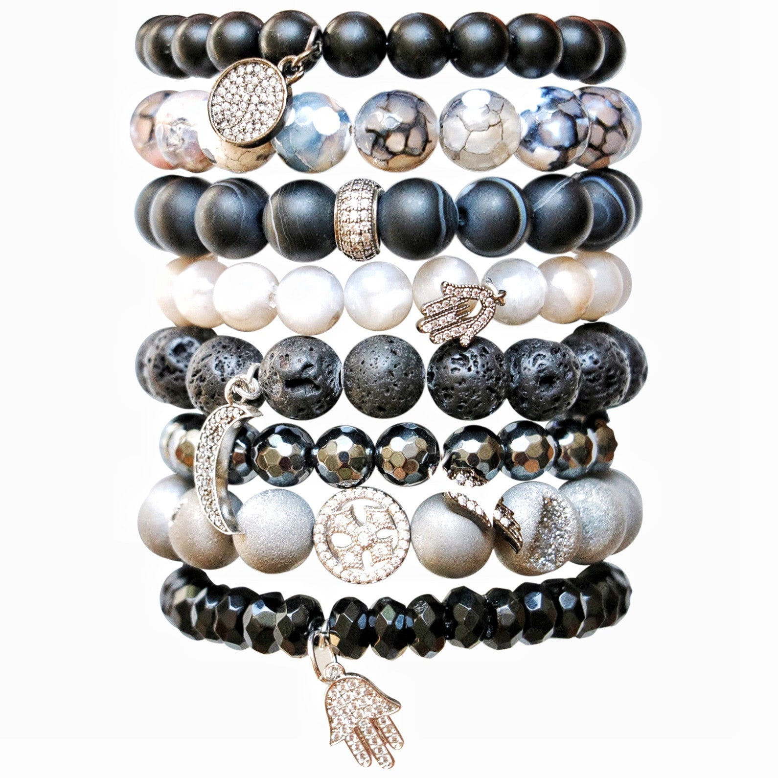 Molly Jane Designs Black Lava Charm Bracelet