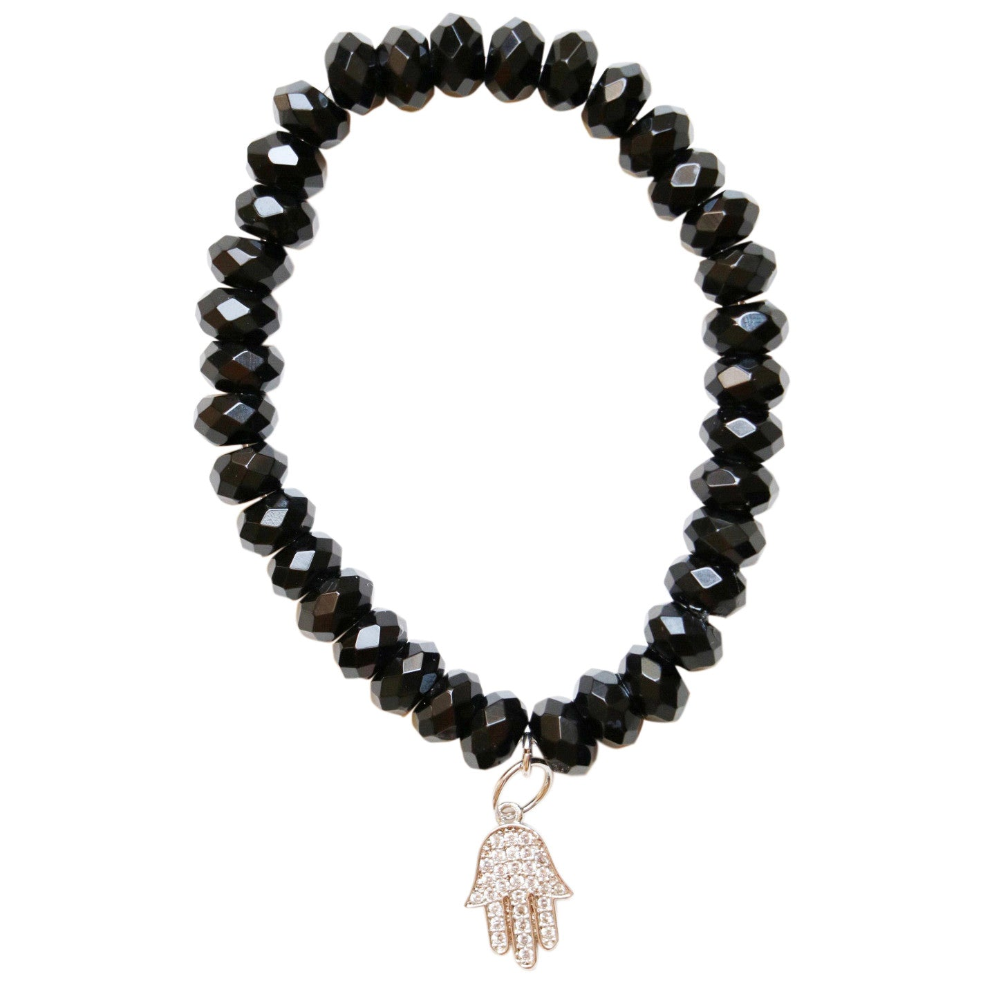 Molly Jane Designs Black Quartz Charm Bracelet
