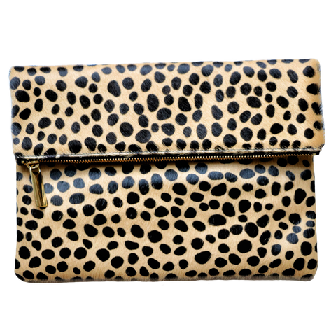 leopard clutch, leopard handbag, cross body handbag, Molly Jane Handbags, Southern Living Handbags, southern designer handbags, Gifts for her, Holiday Wishlist, leopard cross body handbag, hair on italian leather clutch, leather handbag, The perfect clutch