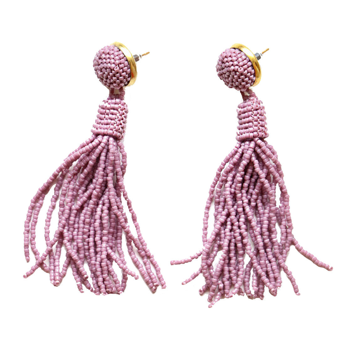 Pink Tassel Earrings, Molly Jane Designs, Spring earrings, Earrings to wear to prom, jewelry for mothers day, spring accessories, southern designer