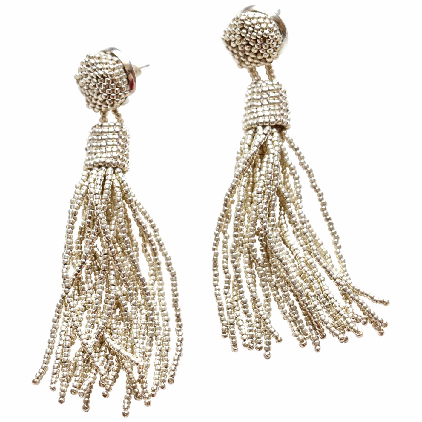 Fresh Silver Tassel Earrings – Molly Jane Designs GK13