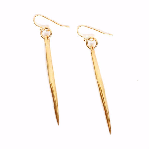 Mixed Metals Drop Earrings